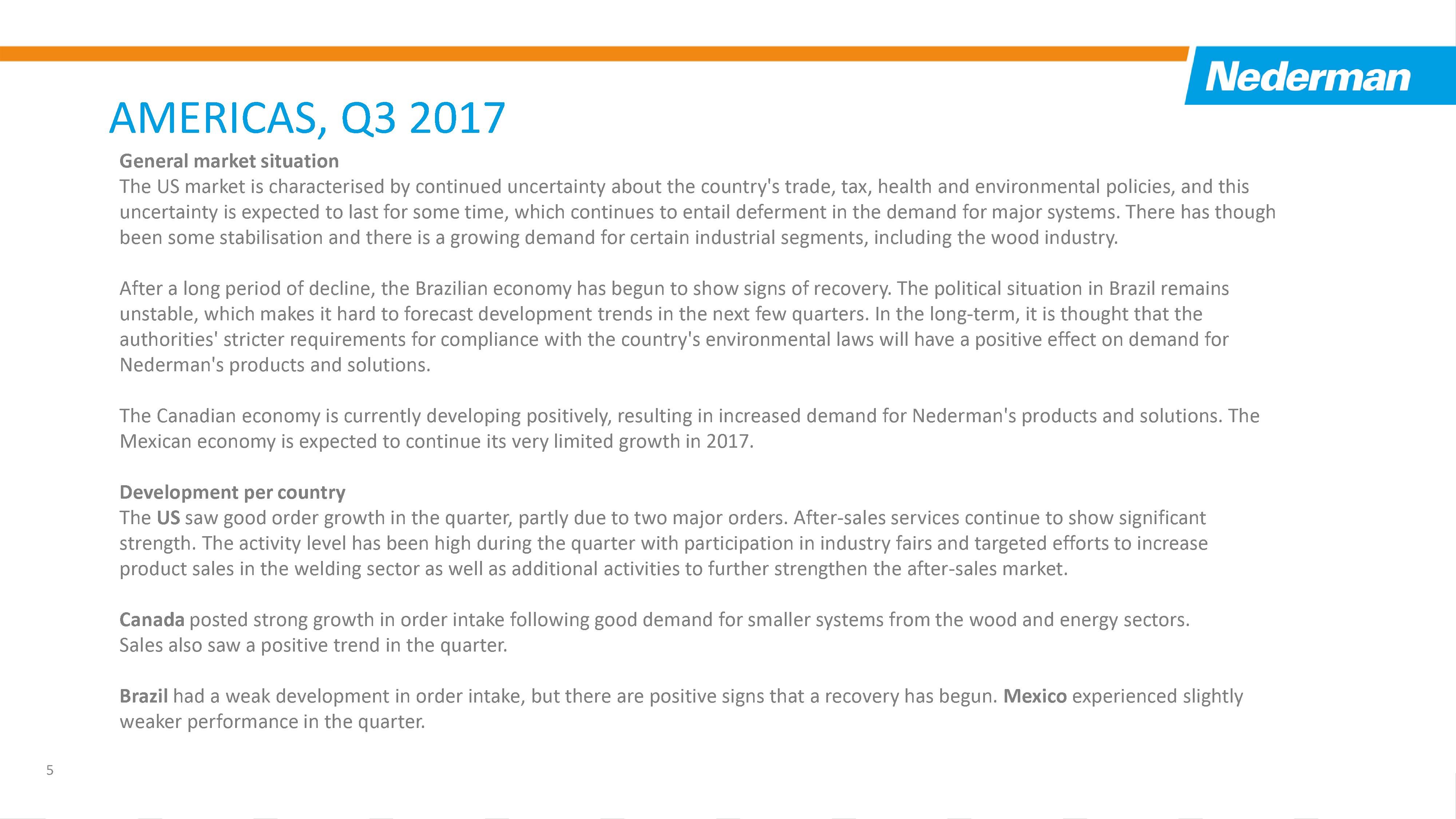 Nederman Q3 Report 2017